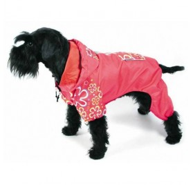 Impermeable con Patas Fucsia Flower