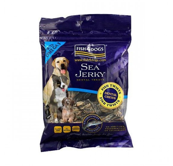 FISH4DOGS Snacks Twists Piel de Pescado Trenzado