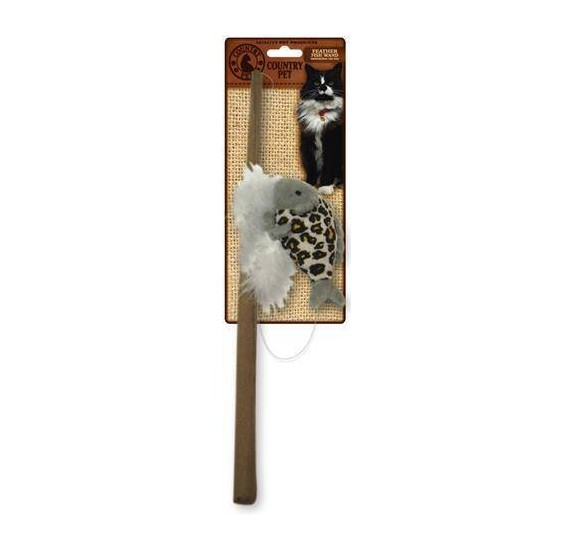 Cat Feathered Fish Wand COUNTRY PET